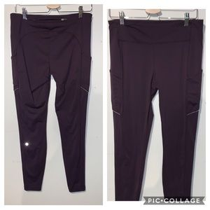 Lululemon leggings Bordeaux colour size 10